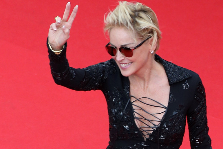 Sharon Stone au Festival de Cannes