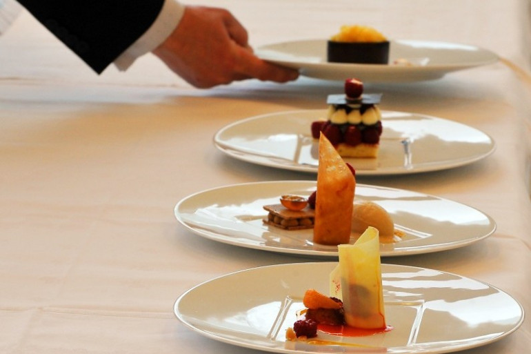 Des plats gastronomiques dans un restaurant (photo d'illustration)