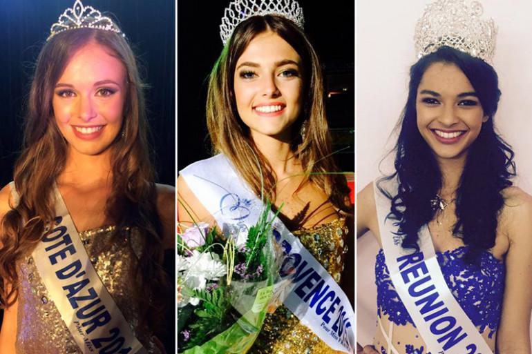 De gauche à droite, les nouvelles Miss Côte d'Azur, Provence et Réunion