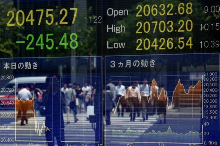 Les traders se basaient sur les données financières d'entreprises américaines pour anticiper les cours de la bourse (illustration).