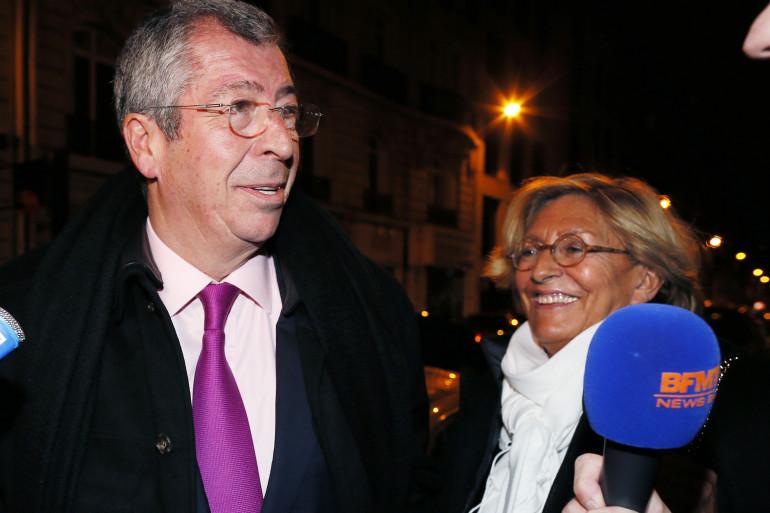 Isabelle et Patrick Balkany à l'anniversaire de Nicolas Sarkozy en 2013.