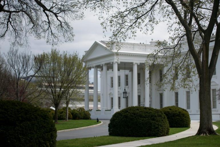 La Maison Blanche à Washington (illustration).