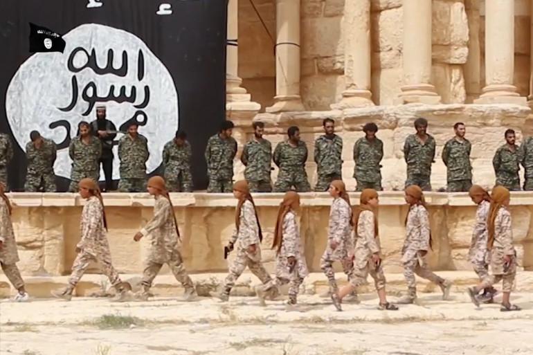 Capture d'une vidéo tournée à Palmyre et diffusée par des médias jihadistes (illustration)