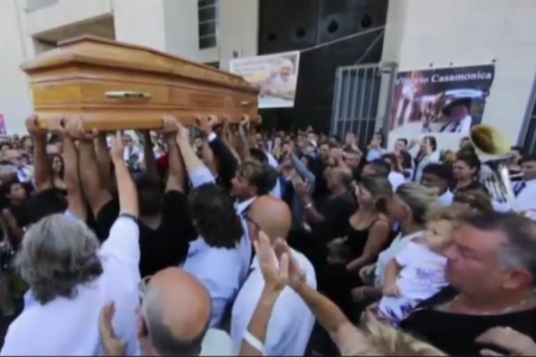Les funérailles de Vittorio Casamonica à Rome le 20 août 2015.