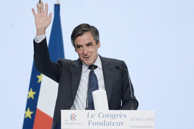 François Fillon, lors du congrès fondateur des Républicains, le 30 mai 2015
