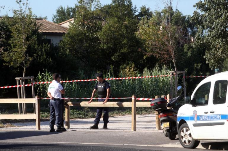 L'entrée du parc où le corps d'une jeune femme a été retrouvé mardi 25 août, à Perpignan