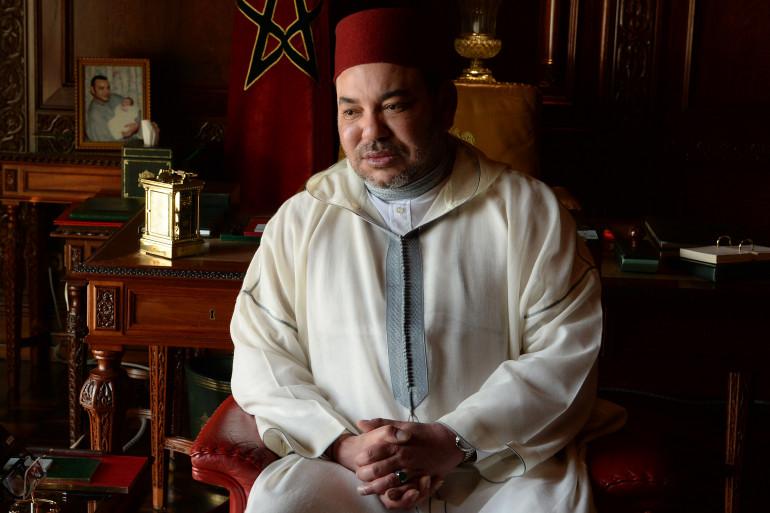 Le roi du Maroc, Mohammed VI, le 19 juin 2015 dans son palais royal de Rabat