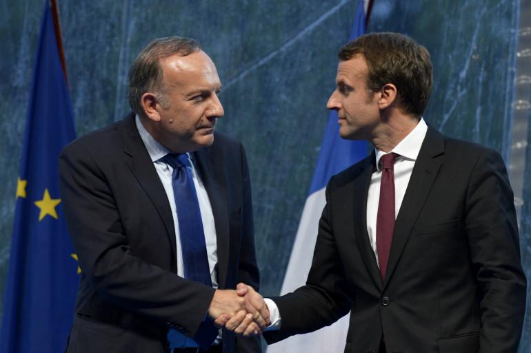 Pierre Gattaz et Emmanuel Macron à l'Université d'été de Medef