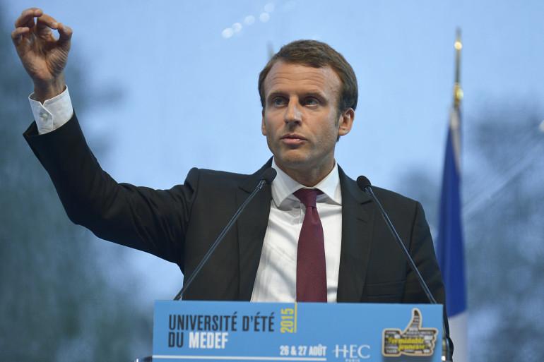 Emmanuel Macron, ministre de l'Économie à l'université d'été du Medef.