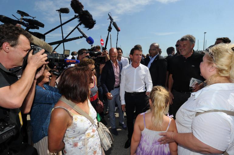 Manuel Valls àl'université d'été du PS à La Rochelle le 29 août 2015