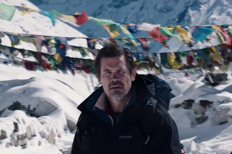 """Josh Brolin incarne l'alpiniste Beck Weathers dans """"Everest"""""""