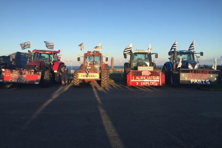 Des tracteurs durant la manifestation des agriculteurs