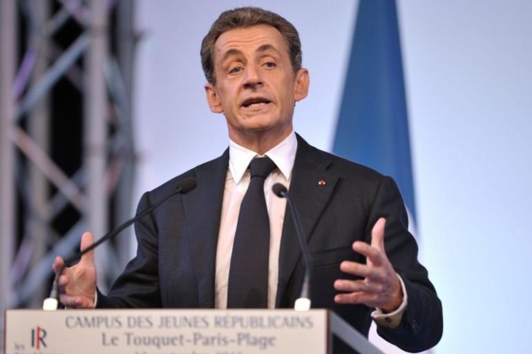 Nicolas Sarkozy lors du Campus des Jeunes Républicains au Touquet, samedi 12 septembre 2015