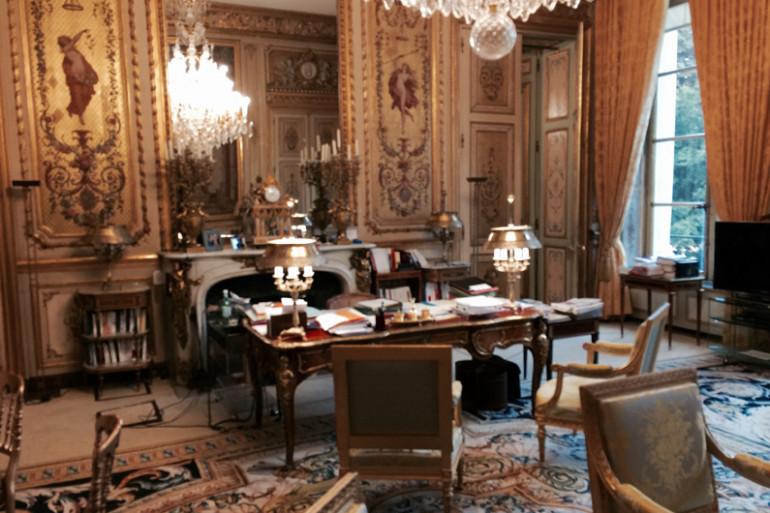 Le bureau présidentiel à l'Élysée