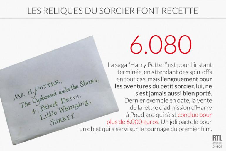 La lettre d'admission d'Harry Potter à Poudlard vendue pour plus de 6.000 euros