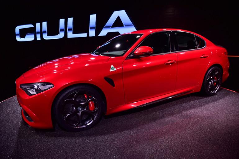 L'Alfa Romeo Giula au Salon de l'auto de Francfort 2015