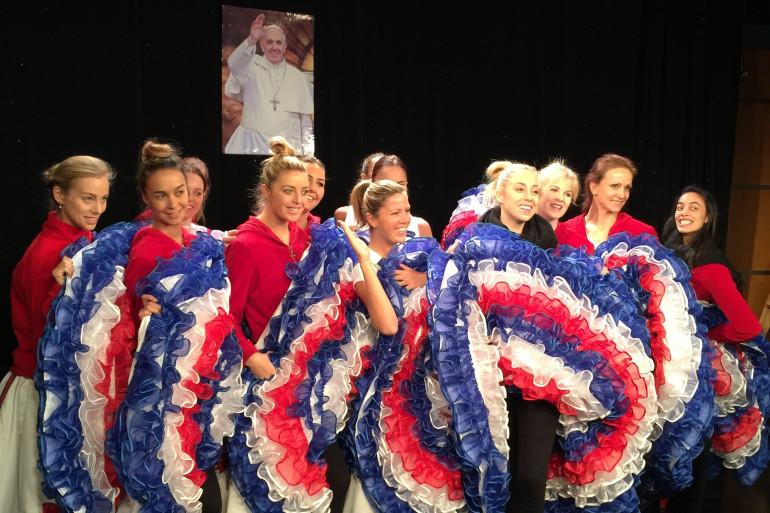 Les danseuses prêtes pour la matinale de Fox News
