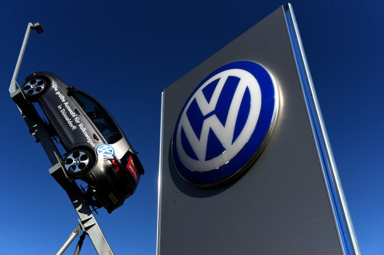 Un modèle de Volkswagen exposé à Dusseldorf