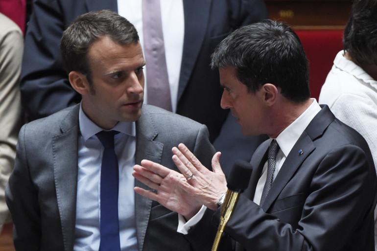 Manuel Valls et Emmanuel Macron le 9 juin 2015.