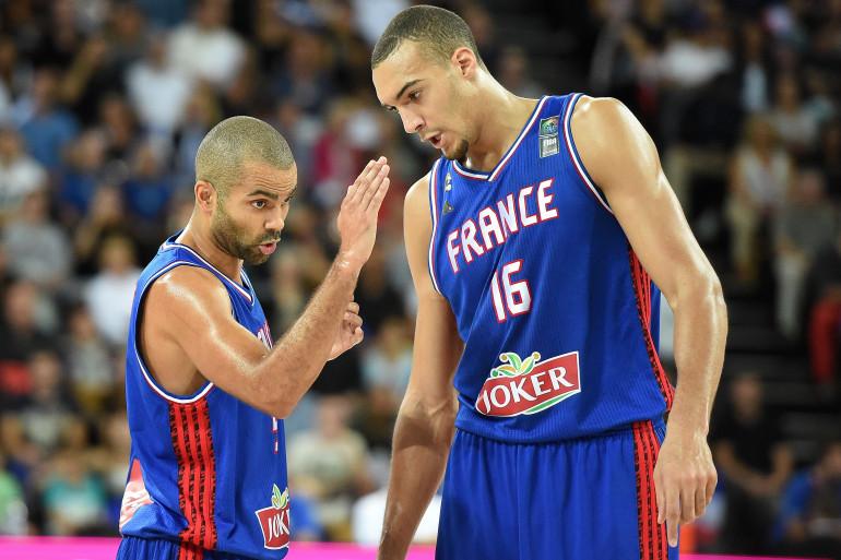 """Rudy et """"le boss"""" Tony Parker, pendant l'Euro à Montpellier"""