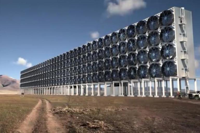 Ce mur géant constitué de ventilateurs absorbe le dioxyde de carbone et le transforme en carburant