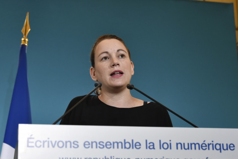 La secrétaire d'État chargée du Numérique Axelle Lemaire