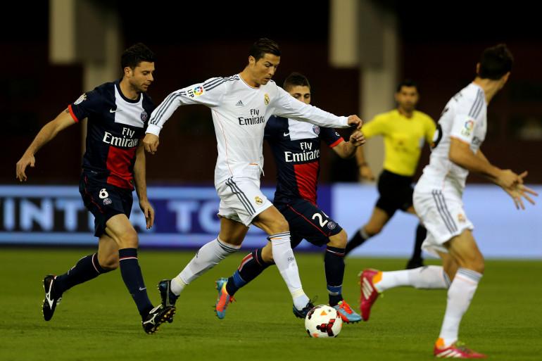 Le match amical entre le PSG et le Real Madrid, en janvier 2014 à Doha