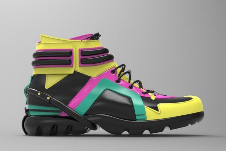 Une chaussure imprimée en partie en 3D