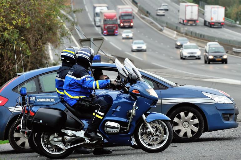 Des policiers sur l'autoroute A1 (illustration)
