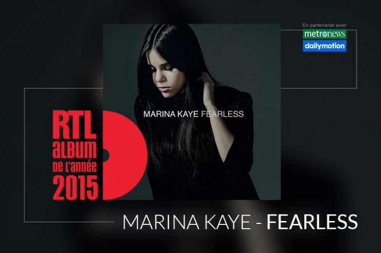 """Marina Kaye est en lice pour l'Album RTL de l'année 2015 avec l'album """"Fearless"""""""