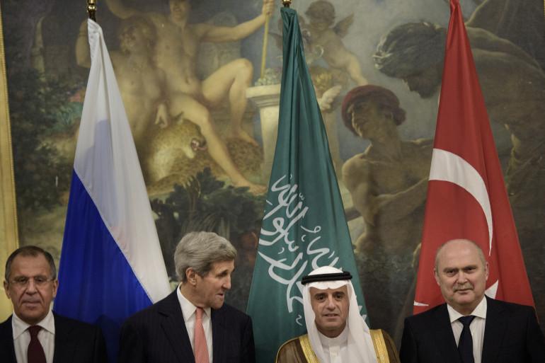 Les ministres des Affaires étrangères russe, américaine, saoudienne et turc