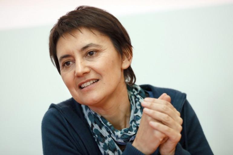 Nathalie Arthaud, candidate Lutte Ouvrière aux régionales 2015 en Île-de-France