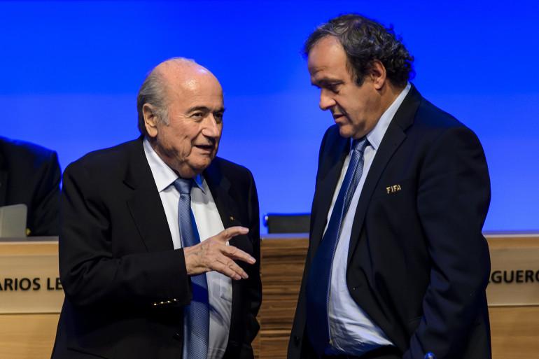Joseph Blatter et Michel Platini en juin 2014