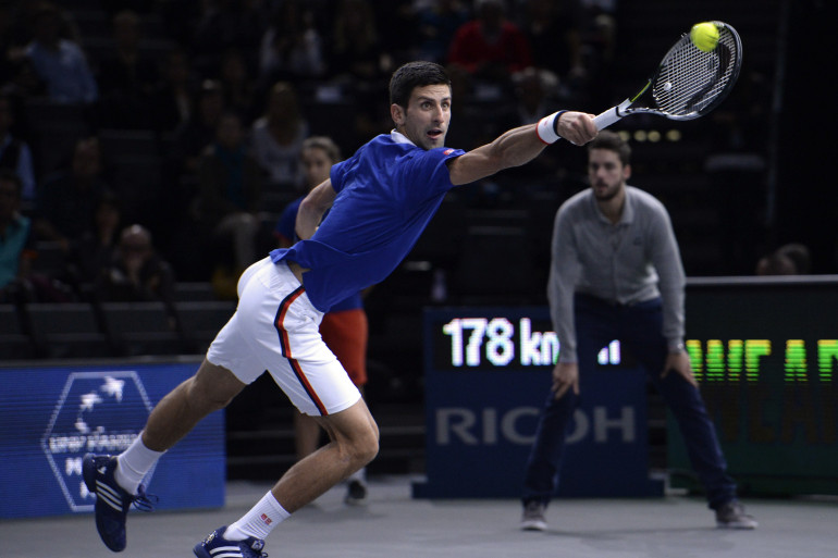 Le Serbe Novak Djokovic à Bercy en novembre 2015