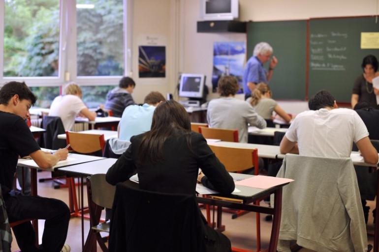 Une classe de lycée à Strasbourg (illustration).