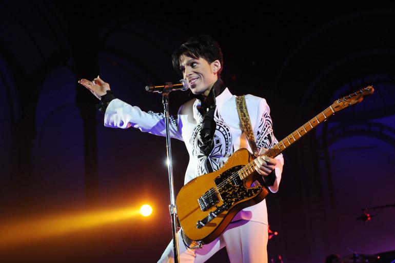 Prince en concert au Grand Palais en 2009