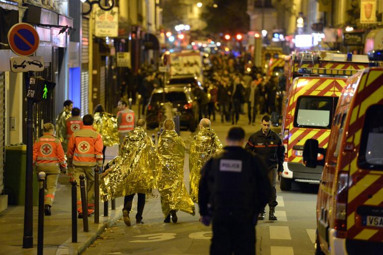 Les policiers ont évacué les spectateurs du Bataclan