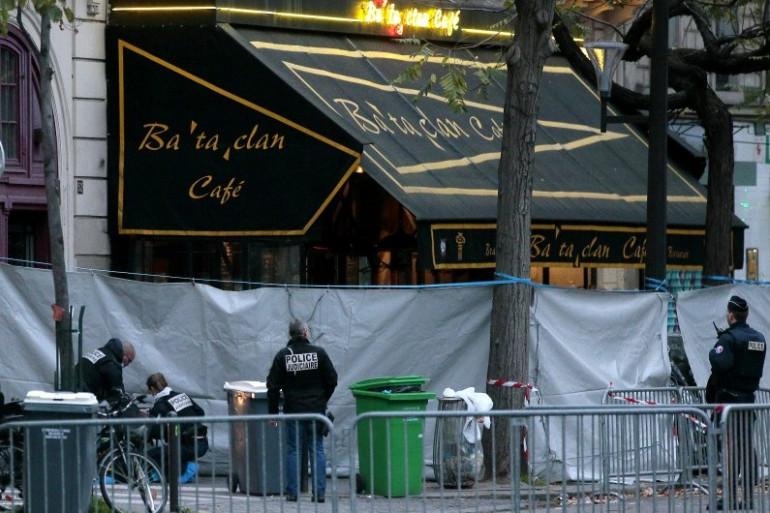 Le Bataclan à Paris après les attentats du 13 novembre 2015