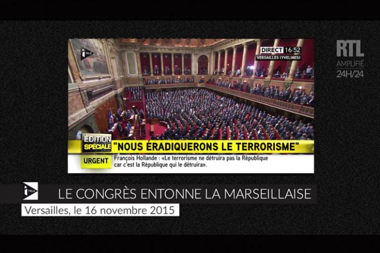 VIDEO ZAPPEUR - Le Congrès entonne la Marseillaise