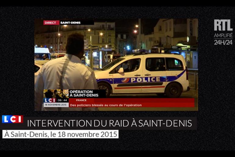 Les images de l'intervention du RAID à Saint Denis