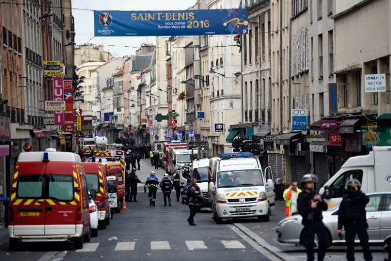 Les forces de l'ordre sont intervenues dans Saint-Denis mercredi 18 novembre 2015