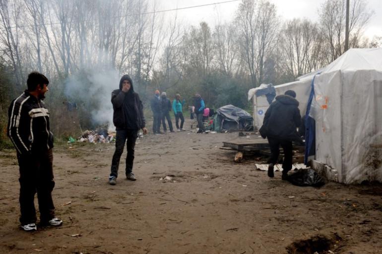 Près de 250 migrants étaient installés dans le camp de Téteghem.