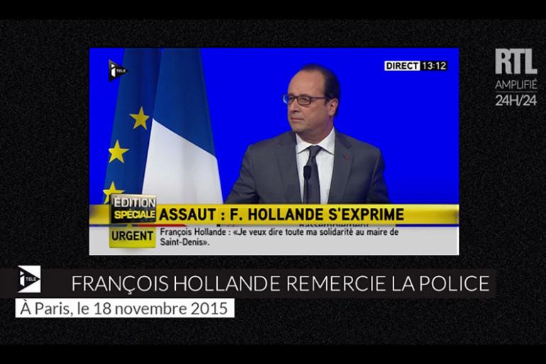 François Hollande devant les maires de France mercredi 18 novembre à Paris
