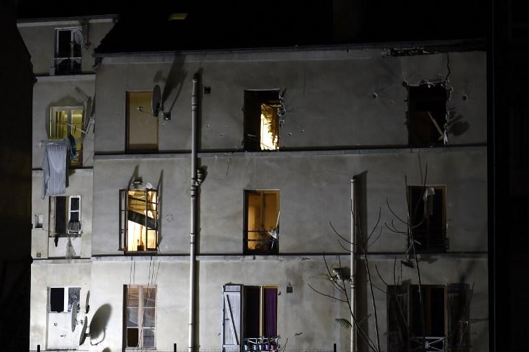 L'immeuble de l'appartement visé par l'assaut de Saint-Denis, mercredi 18 novembre