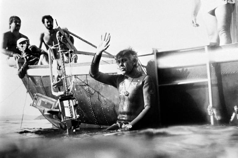 Le plongeur Jacques Mayol à Marseille en novembre 1983