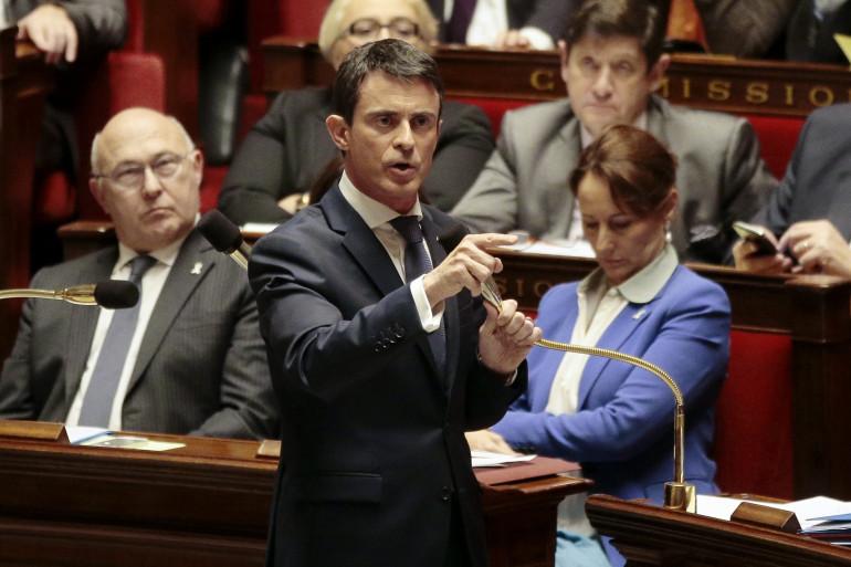 Manuel Valls à l'Assemblée nationale, le 25 novembre