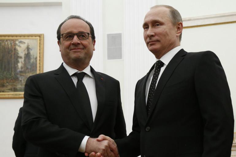 François Hollande et Vladimir Poutine, le 26 novembre 2015 à Moscou