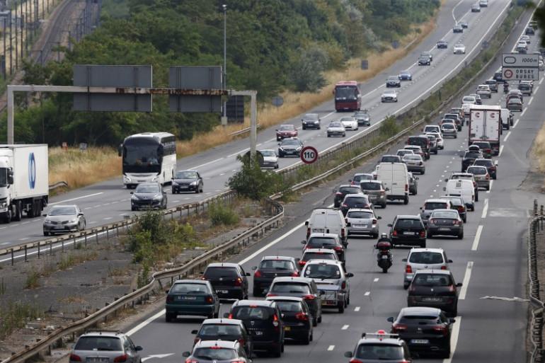 L'autoroute A6 au sud de Paris, le 3 juillet 2015