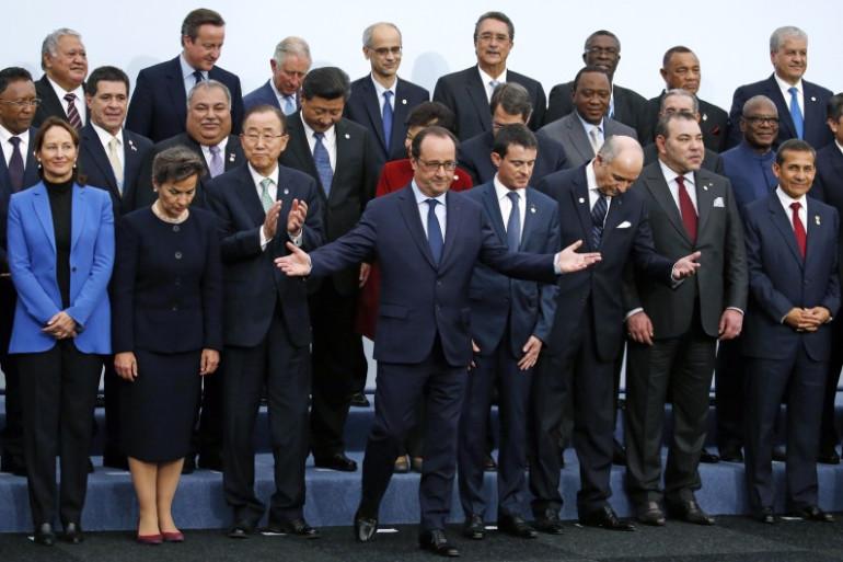 Les chefs d'Etat et de gouvernement lors de la photo de famille de la COP21 à Paris, le 30 novembre 2015.