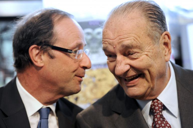 François Hollande et Jacques Chirac, le 11 juin 2011